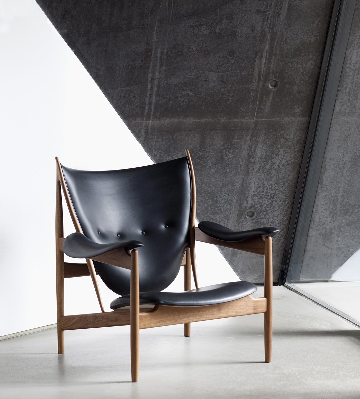 House Of Finn Juhl Chieftain Chair By Finn Juhl Crafted In Sorensen Leather  ELEGANCE / Black