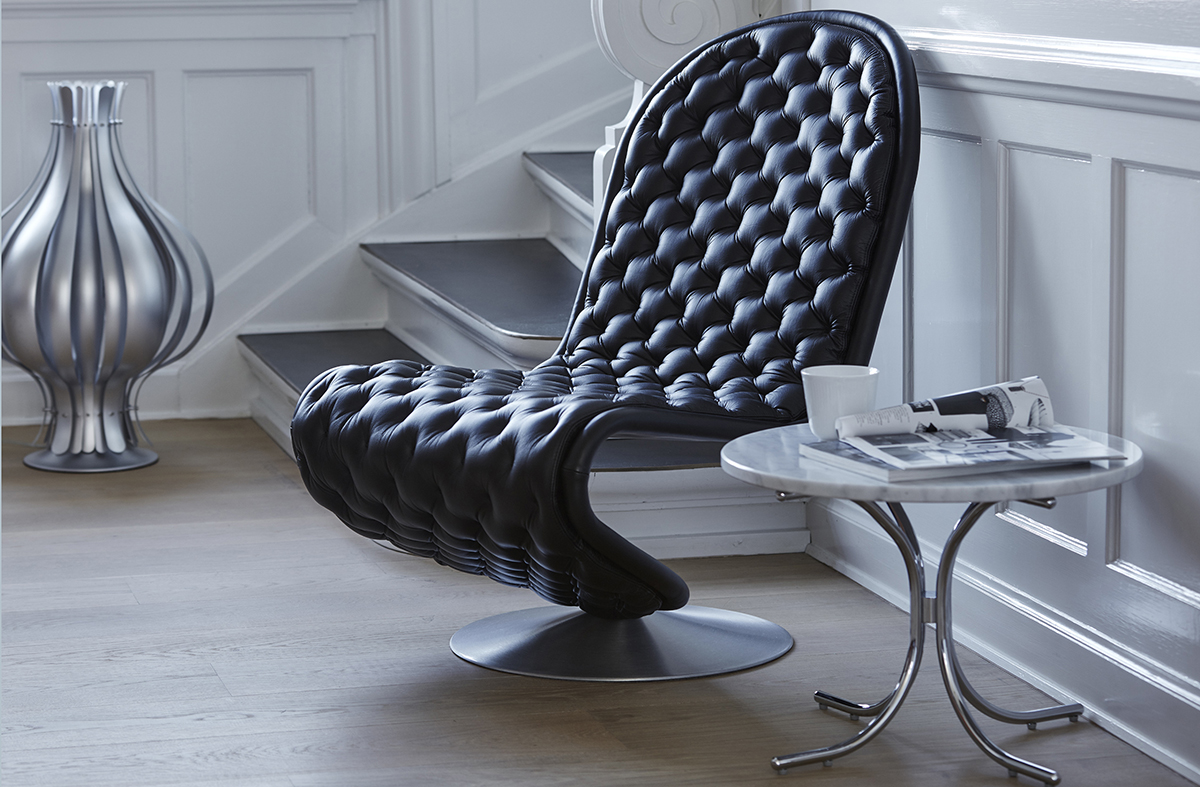 verpan verner panton sorensen leather. Black Bedroom Furniture Sets. Home Design Ideas