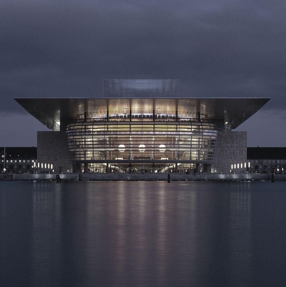 Night view of the Royal Danish Opera House
