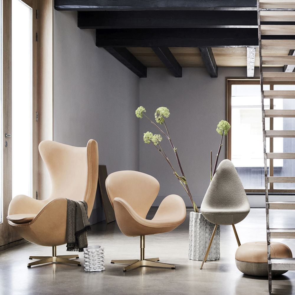 Fritz Hansen's 60th Anniversary Limited Edition Egg™ and Swan™ chairs by Arne Jacobsen