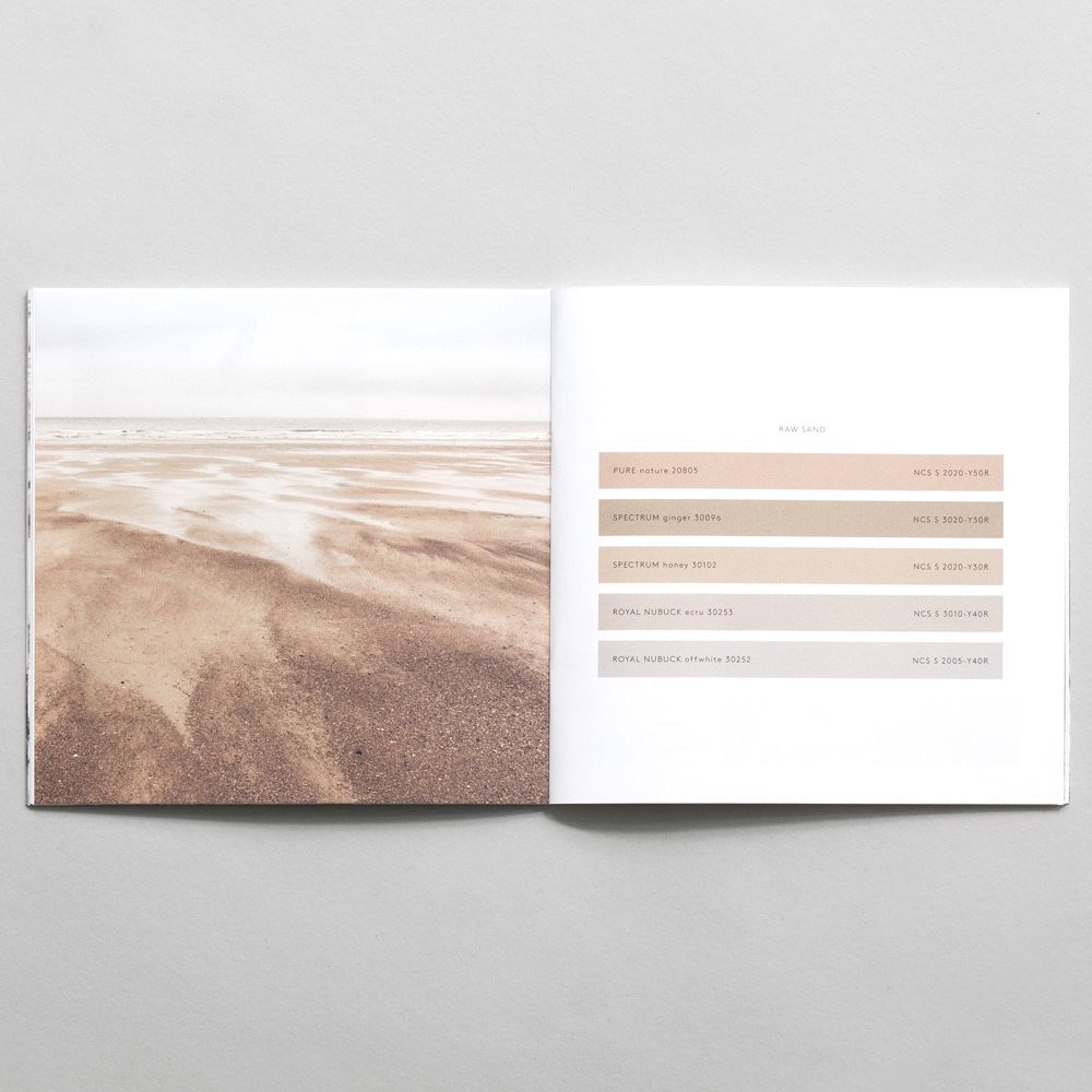 20 x Sørensen Colour Booklet with image of sand