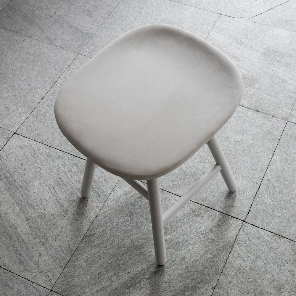 Low stool in ROYAL NUBUCK Mineral leather