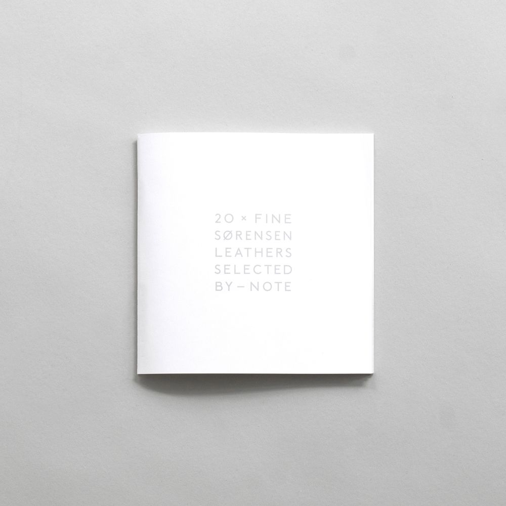 20 x Sørensen Colour inspirational Booklet Curated by Note Design Studio