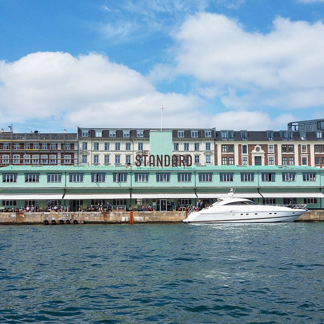 The Standard overlooking Copenhagen's inner harbour