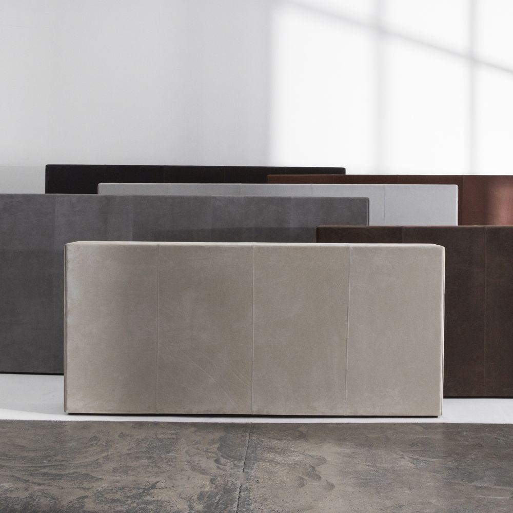 Room dividers in leather by Norm Architects and Laura Bilde