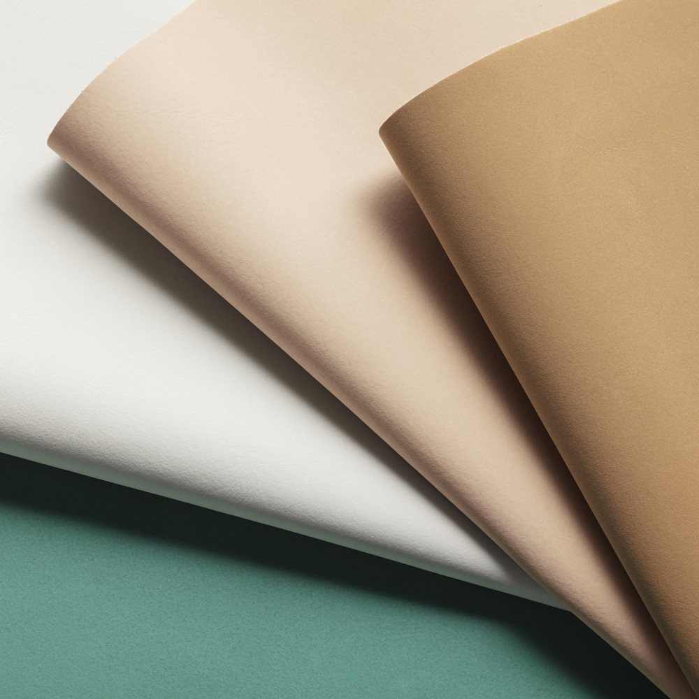 Our FLUX® showing Green, Light Grey, Nature and Ginger